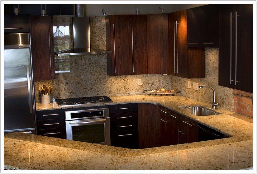 kitchen corner sinks bench seating colonial gold granite - denver shower doors & ...