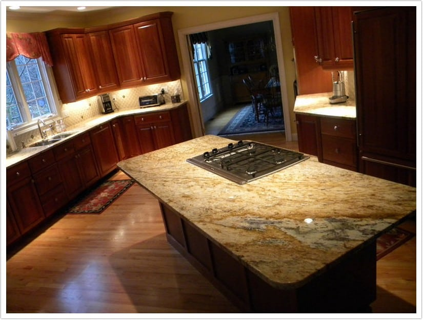 Colonial Gold Granite  Denver Shower Doors  Denver