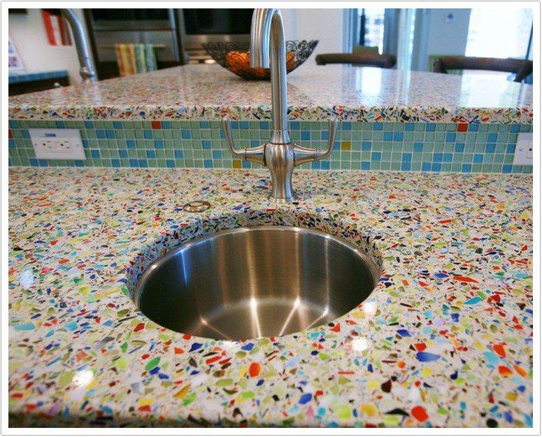 Beautiful Millefori Vetrazzo Denver Shower Doors Granite Countertops