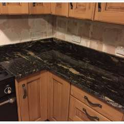 Corner Sinks Kitchen Stove Tops Titanium Black Granite – Denver Shower Doors & ...