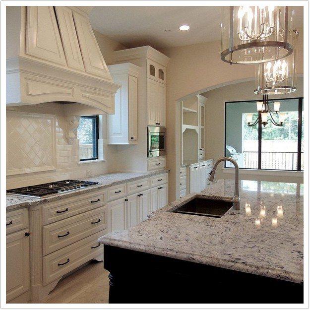 colors of kitchen cabinets table lighting white ice granite – denver shower doors & ...