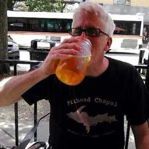 Al Kratz with beer