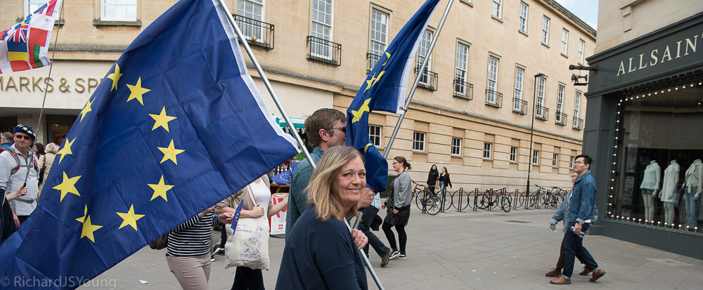Bath's pro-Europeans turn out for Pulse of Europe