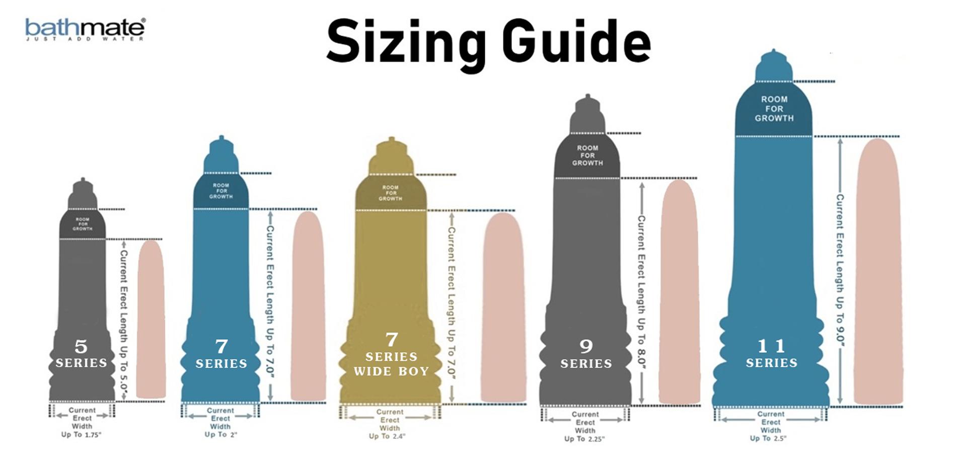 Bathmate X40 Size Chart