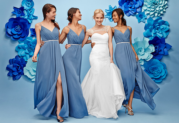 Bridesmaid Dresses Color Code, Slate Or Dusty Blue