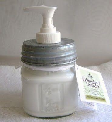 DIY Lotion Or Soap In A Handmade Mason Jar – Bath and Body