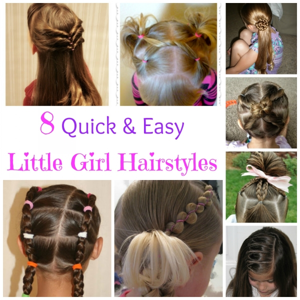 Admirable 8 Quick And Easy Little Girl Hairstyles Bath And Body Short Hairstyles For Black Women Fulllsitofus