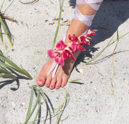 OrchidSandal-wedding-bridal-beach-diy-barefoot