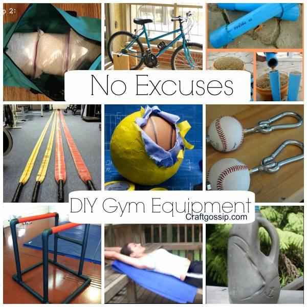 Diy gym equipment no more excuses bath and body