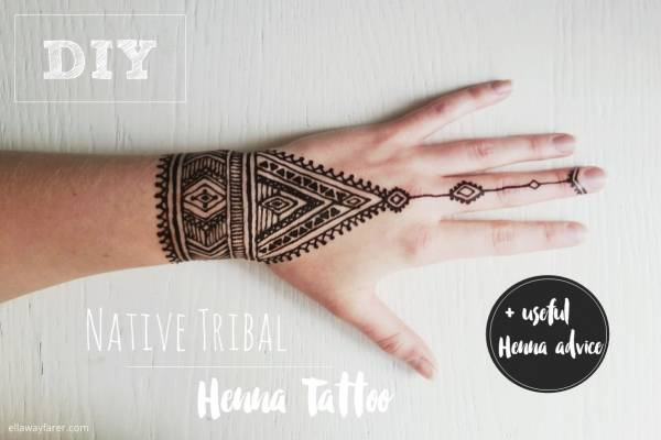 Henna Tattoo Tutorial : Diy tribal henna tattoo u bath and body