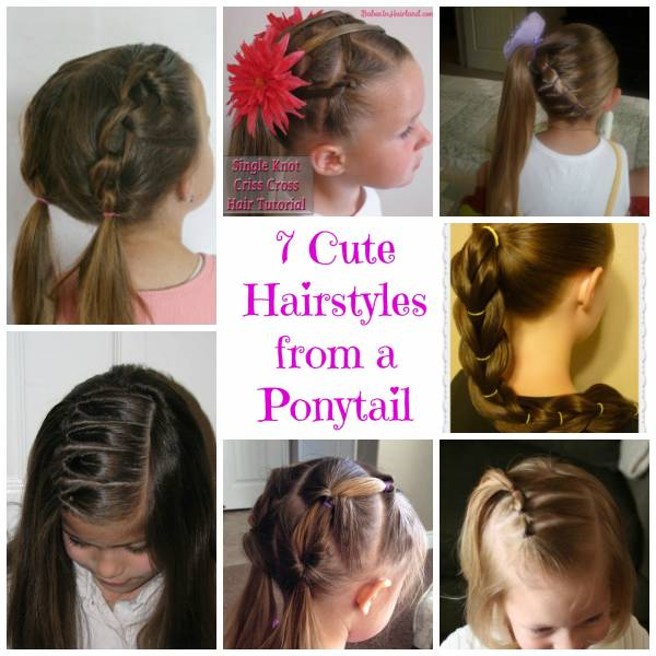 Awe Inspiring 7 Cute Hairstyles From A Ponytail Bath And Body Short Hairstyles Gunalazisus