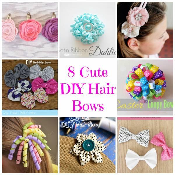 8 cute diy hair bows bath