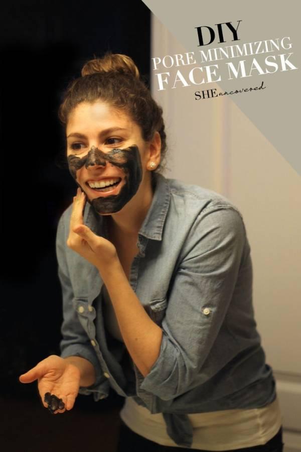 Pore reducing face mask