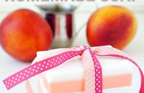 10 Minute Peach Soap