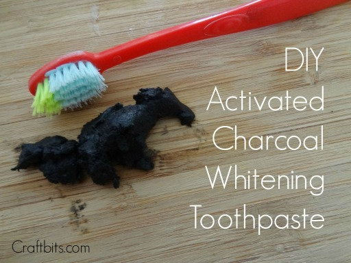 DIY Activated Charcoal Teeth Whitening Paster