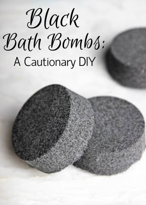 Black Bath Bombs Read this before making them