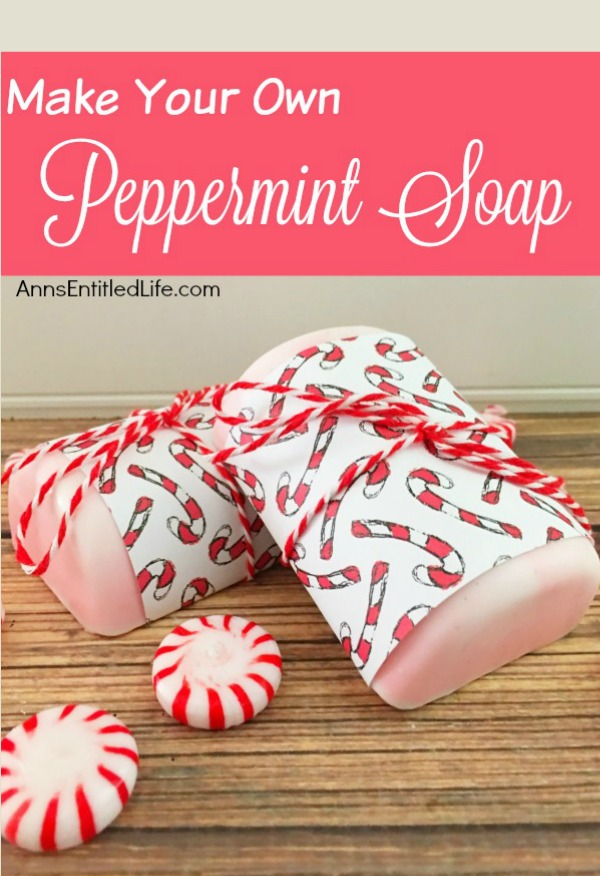 DIY Peppermint Christmas Soap