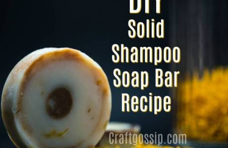Easy DIY Solid Shampoo Soap Bar