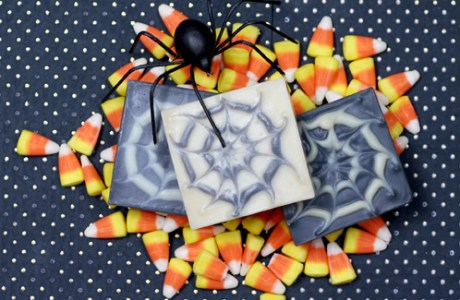 Cold Process Soap Making –  Halloween Spider Web Swirls
