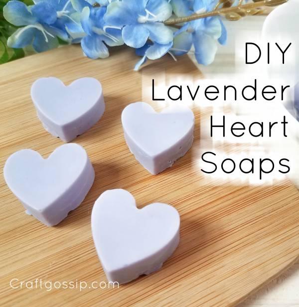 DIY Lavender Heart Soaps