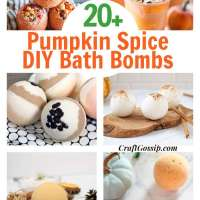 20 Pumpkin Spice Bath Bombs