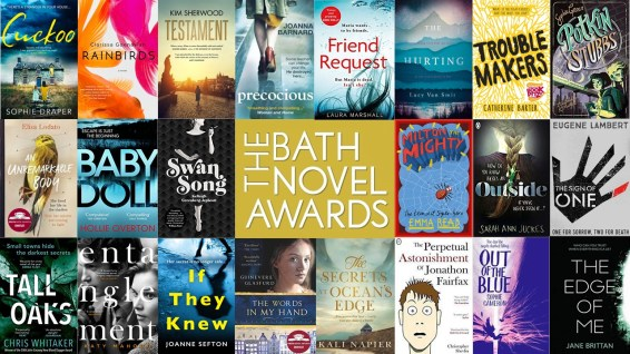 Collage of covers of novels published since listing for the Bath Novel Awards