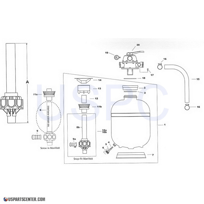 Laser Sand Filter Replacement Parts (2004-current)