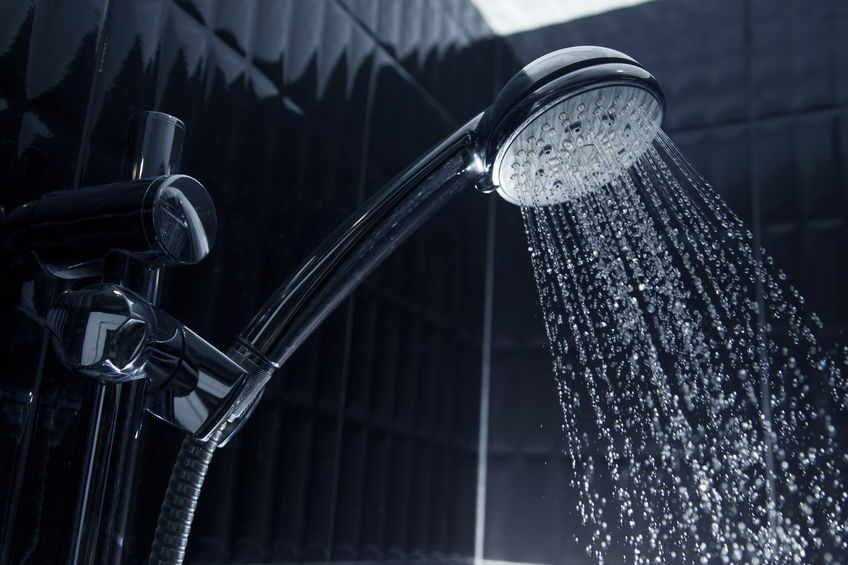 replace showerhead in the shower