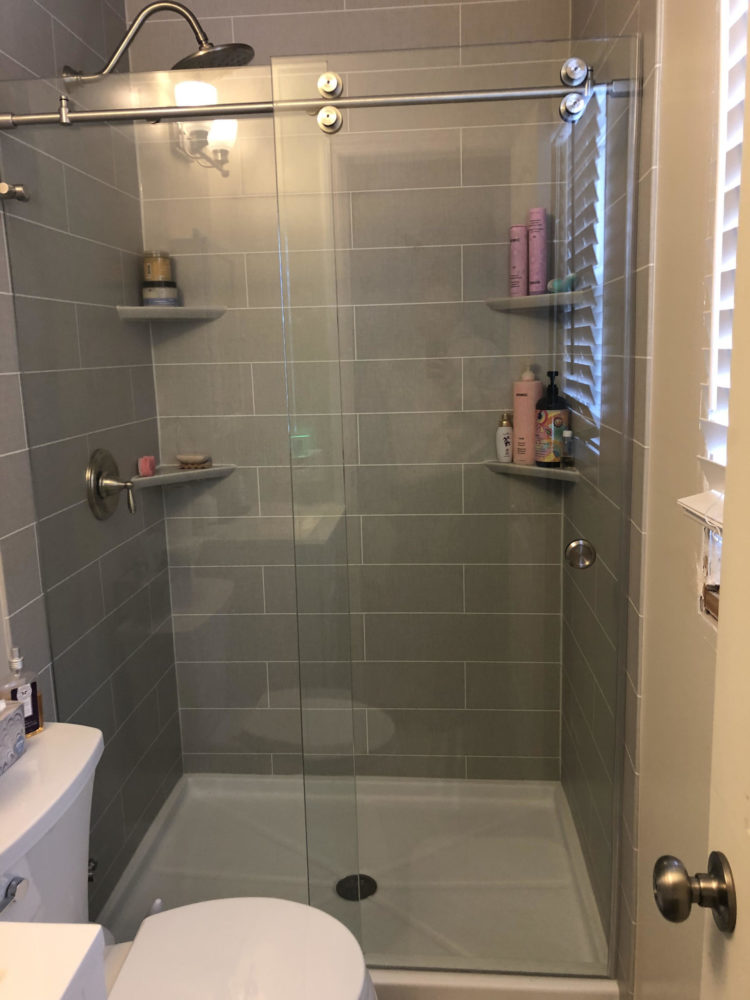 one day bathroom remodeling project after