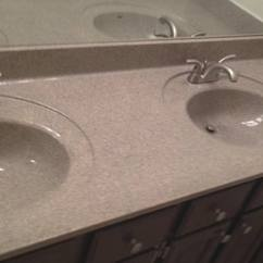 Refinishing Kitchen Countertops Stick On Tile Backsplash Countertop Resurfacing Done In 1 Day Bath Vanity Resurfaced Multistone