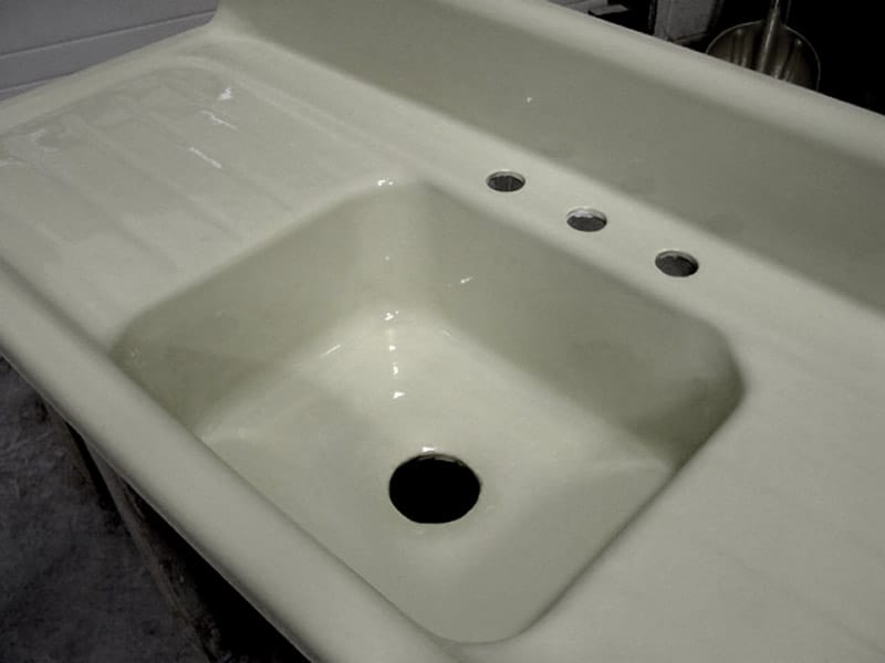 refinish kitchen sink ceiling tiles refinishing maryland wash dc n virginia damage repaired refinished