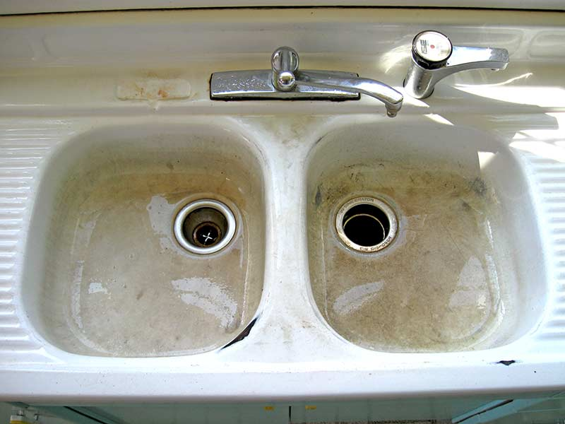 refinish kitchen sink drain repair refinishing maryland wash dc n virginia discolored and chipped