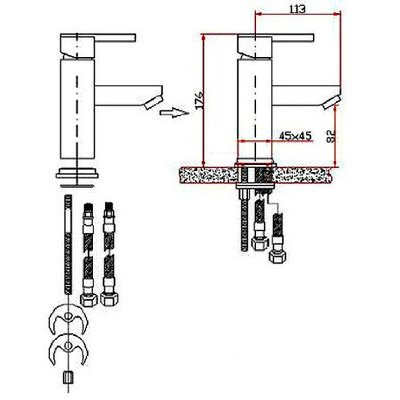 Faucet Installation Drawings