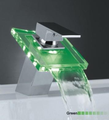 LED Light Waterfall Taps