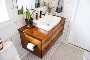 How To Install A Bathroom Vanity Top And Backsplash