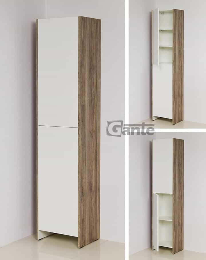 Tall storage unit 40cm white