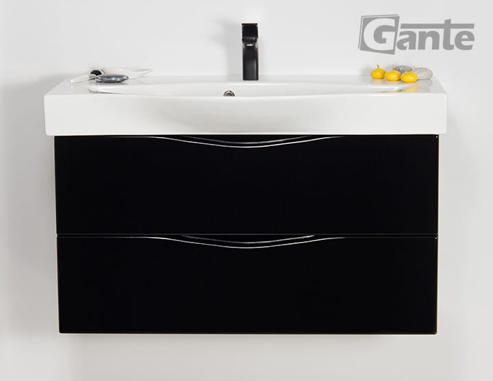 vanity unit 100 cm black