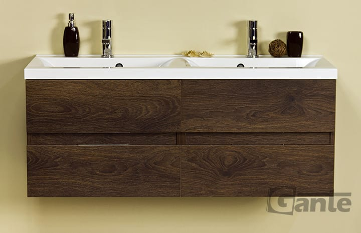 vanity unit 120cm antique wood double basin