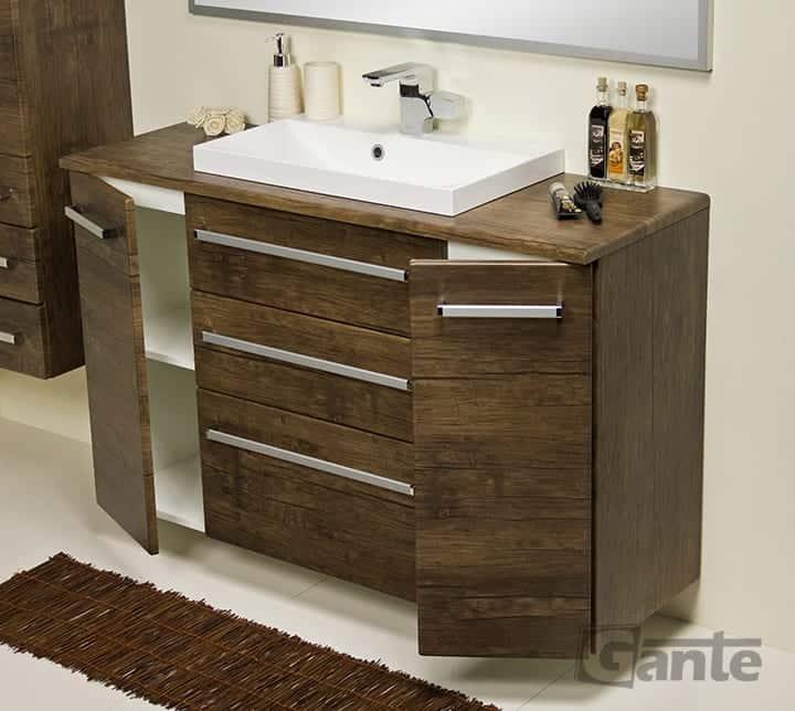 Vanity unit 120 cm antique wood