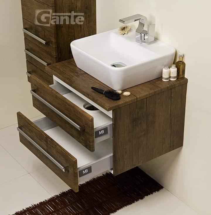 vanity unit 60cm antique wood