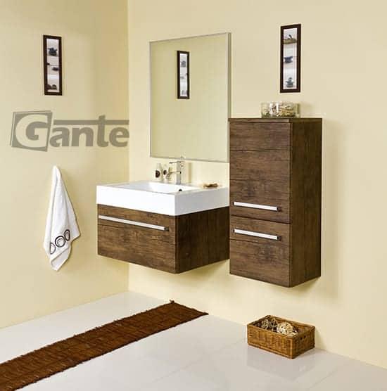 vanity unit 70 cm antique wood