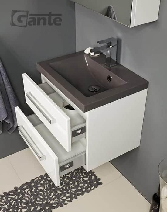 vanity unit 50cm white