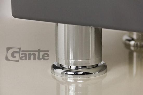 grey vanity unit, leg