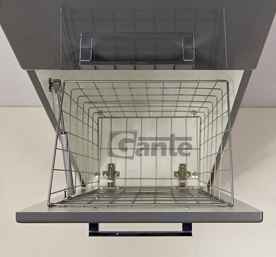 grey tall storage unit 40 cm, basket