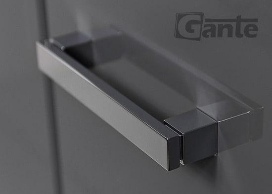 grey tall storage unit 40 cm, handle