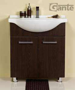 walnut vanity unit 70 cm