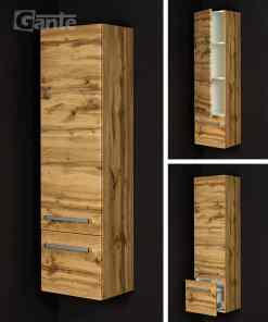 tall storage unit oak