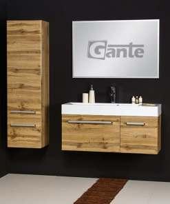 vanity unit 100 cm oak