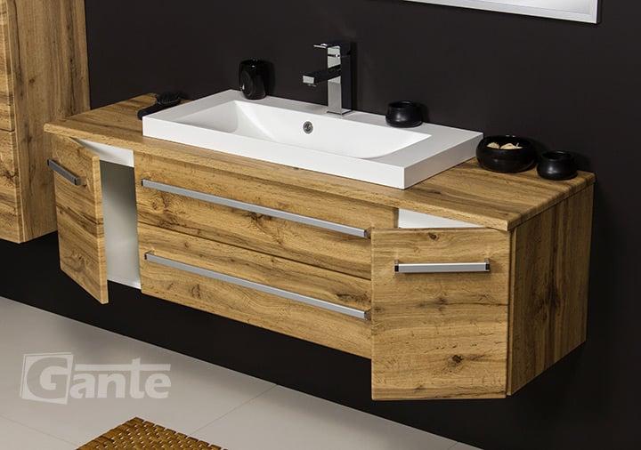 Oak vanity unit 140cm