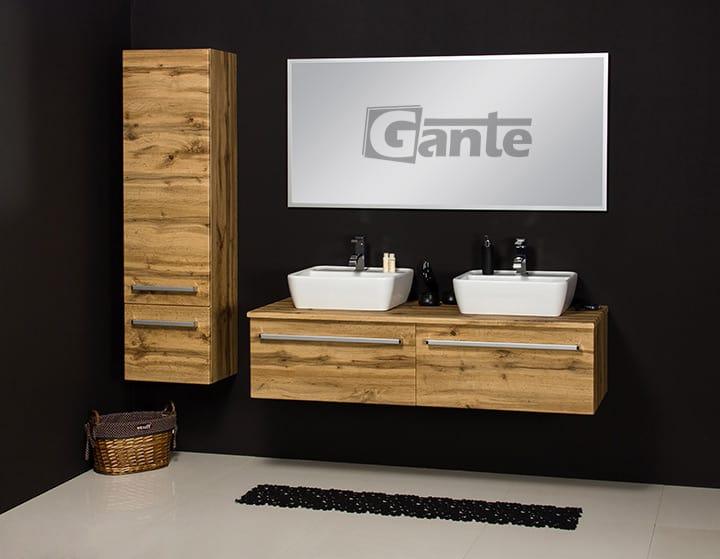 vanity unit 140cm oak